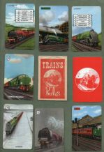 Collectable Vintage cards game Trains by Pepys 1962,